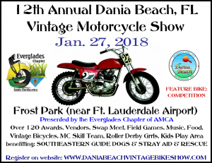 12 Annual Dania Beach Vintage Motorcycle Show @ Frost Park