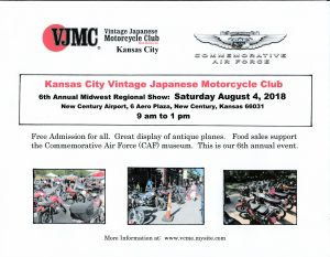 6th. Annual VJMC Regional Motorcycle Show @ 6th. Annual VJMC Regional Motorcycle Show | Gardner | Kansas | United States