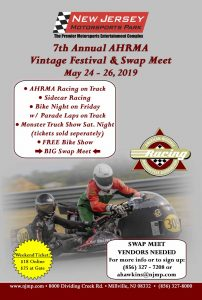 7th Annual AHRMA Vintage Festival & Swap Meet @ New Jersey Motorsports Park |  |  |