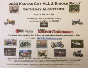 2020 Kansas City All 2 Stroke Rally @ 2020 Kansas City All 2 Stroke Rally |  |  |